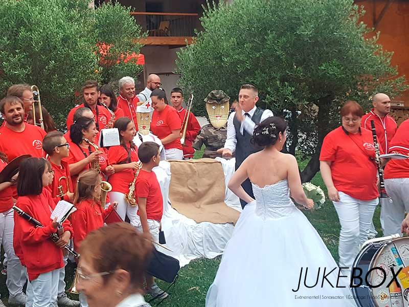 Animation mariage avec un bands au Castelet dans le Tarn.