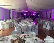 Décoration et éclairage d'une salle de mariage