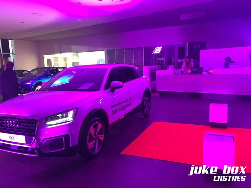 Animations au garge Audi à Castres