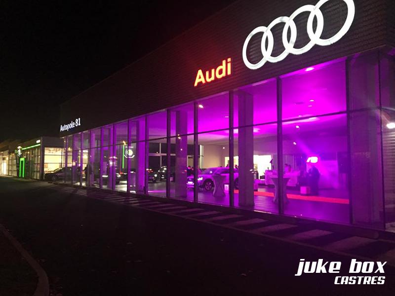 Éclairage et décoration garage Audi à Castres