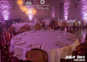 Éclairage salle de mariage Le Castelet