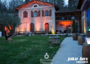 Éclairage architectural façade batiment mariage Le Catelet