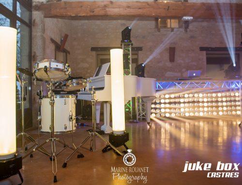 Salle de mariage éclairage mariage Le Castelet – Marine Rouanet Photography