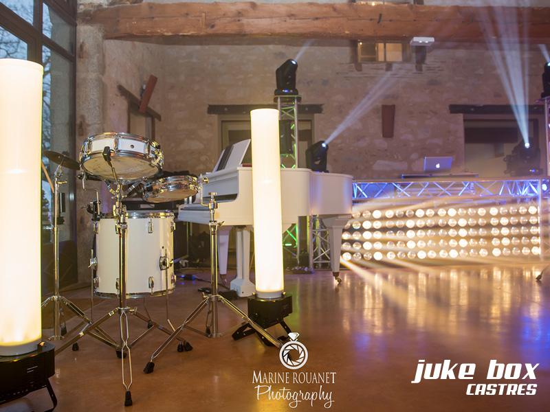 Salle de mariage éclairage mariage Le Castelet